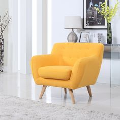 online shopping for Divano Roma Furniture - Modern Mid Century Accent Chair from top store. See new offer for Divano Roma Furniture - Modern Mid Century Accent Chair Yellow Living Room Furniture, Family Room Furniture, Accent Chairs For Living Room, Living Rooms, Mid Century Chair, Mid Century Furniture, Modern Chairs, Modern Furniture, Paint Furniture
