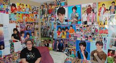 This is a my daughter in her bedroom.    I think she likes the Jonas Brothers.....just a little.    PS...    I added this photo into the Fanactic contest over at JPG Magazine. If you like this photo, please take some time and go here and vote YEAH for me.   Teenage girls are dreaming in their bedrooms