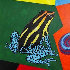 """332 kedvelés, 5 hozzászólás – Horváth Kincső Art (@horvathkincso_art) Instagram-hozzászólása: """"Állati színek: Béka (akril, vászon) 🐸🖤🧡💛💚💙 #frog #animalistic #acrylicpainting #contemporaryart…"""" Animals, Art, Instagram, Art Background, Animales, Animaux, Kunst, Animal, Performing Arts"""