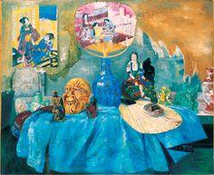 """O quadro do artista belga James Ensor """"Still Life com motivos chineses"""" 1907"""
