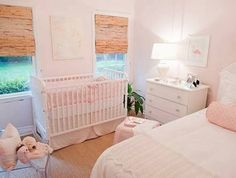 Adorable pink girl& nursery/guest room with light pink walls paint color, w. White Twin Headboard, Girls Headboard, Girls Bedroom, White Bedroom, Baby Room Themes, Baby Room Decor, Theme Design, Design Ideas, Light Pink Walls