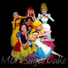 mg sugar cake Cupcakes, Cupcake Cookies, Funny Princess, Princess Photo, Fondant Toppers, Cake Fondant, Sugar Cake, Disney Cakes, Disney Desserts