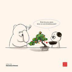 Panda's Christmas Bonsai.