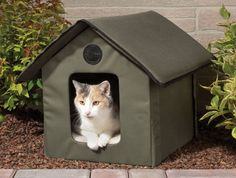 Dogs have dog houses and cats think yours is theirs, but if you let your cat out, give them a place of their very own to nap and plan their attacks from with this cool new indoor/outdoor Heated Cat House!
