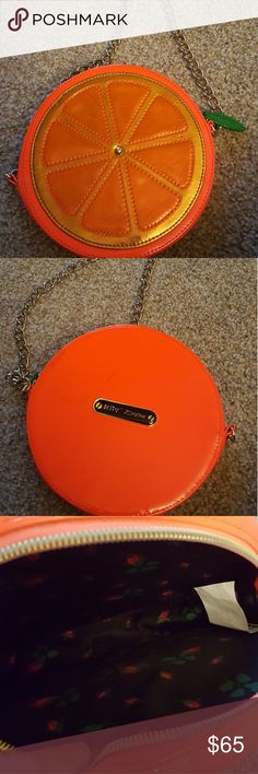 Betsey Johnson Orange Purse Great condition. Small mark on back. Betsey Johnson Bags Shoulder Bags