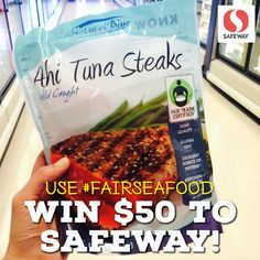 Announcing the world's FIRST #FairTrade Certified #seafood  – Available at #Safeway , ACME Markets & Vons-Pavilions now!  Enter to #WIN 1 of 30 $50 Safeway gift cards: 1.) Head to your local store 2.) Snap a photo/selfie of the NEW Fair Trade tuna & 3.) Post to your social media channels using the #FairSeafood Hashtag! #giveaway #contest