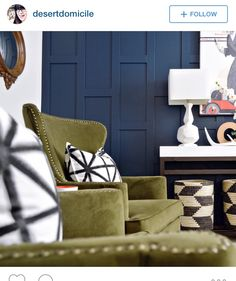 Awesome uneven wainscoting, navy, Kameron's room