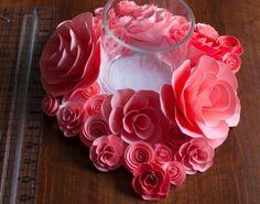 Paper Flower Centerpiece Tutorial/ 14 DIY Flower Crafts for Weddings or Spring