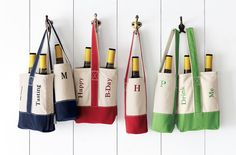 Customer Creativity By The Glass  -Classic Canvas Wine Totes by Lands' End