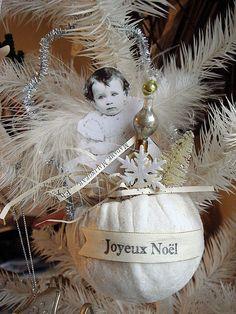 snowball angel ornament