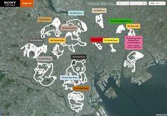The Tokyo Zoo project: GPS-drawn animals over Tokyo's map, via Sony's NAV-U system http://bit.ly/HFUj2j