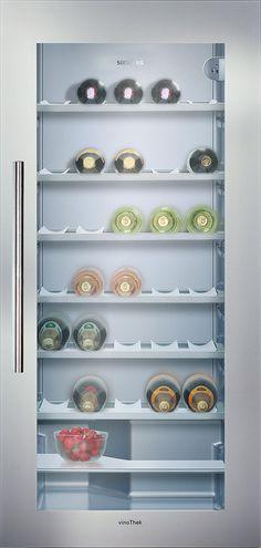 Built-in wine #cooler - #Siemens #wine storage cabinet. #Wein #Kuehlschrank #Lagerung