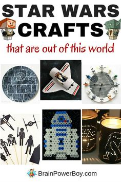 You really need to check out these awesome Star Wars Crafts. They are perfect for any day of the year and especially nice for Star Wars Day - May the 4th Be With You!