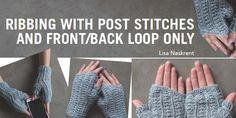 In crochet, ribbing can be used when stretch is needed, and it is essential when part of a garment, such as the cuff of a mitten, needs to expand and contract. Other times, ribbing serves no functional purpose and is used for decoration. In this article, we'll discuss two techniques used to create crochet ribbing: …