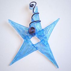 A blue star for your baby boys first Christmas