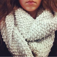 Simple Chunky Knit Infinity Scarf by brittnicarter on Etsy, $40.00