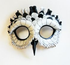 Snowy Owl Leather Mask by LibertiniArts on Etsy, $95.00