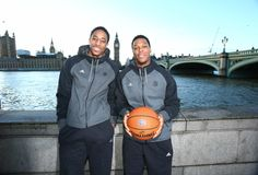 Toronto Raptors DeMar DeRozan and Kyle Lowry in London, England for a regular season match against the Orlando Magic Toronto Raptors, Rap City, Kyle Lowry, Orlando Magic, Nba Players, Athletes, All Star, Basketball, London England