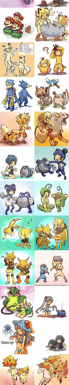 If pokemon were humans