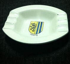 Leipzig, Germany Coat of Arms Ash Tray Ashtray by Bauer & Lehmann Vintage White