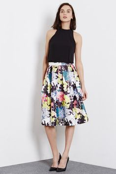 Buy Warehouse Statement Floral Midi Dress, Multi from our Women's Dresses Offers range at John Lewis & Partners. Floral Print Skirt, Floral Midi Dress, Midi Skirt, Going Out Dresses, Nice Dresses, Meeting Outfit, Long Summer Dresses, Feminine Style, Playing Dress Up