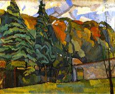 Landscape at Asheham by Roger Fry