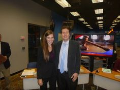 #Attorney Evan Guthrie with Lindsay Van Slambrook of Nelson Mullins at the South Carolina Bar Ask A Lawyer program at WCSC Live 5 News studios in Charleston SC on Wednesday October 1 2014.