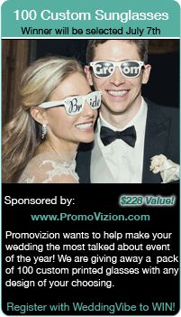 Win Bridal Party Sunglasses in this Fun Wedding Giveaway!  Winner to be selected 7/7/14 Register at www.weddingvibe.com  Keywords:  #winsunglasses #entertowin #bridalcontests #weddingcontests #jevelweddingplanning Follow Us: www.jevelweddingplanning.com  www.facebook.com/jevelweddingplanning/