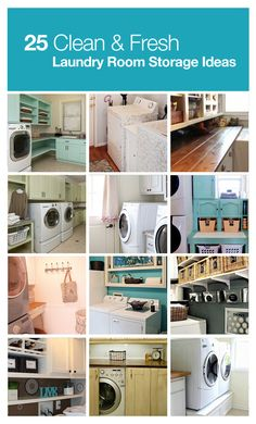 Beautiful and stylish laundry room storage ideas.