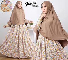 Baju Muslim Gamis Syar'i Floria Syari Choco - http://warongmuslim.com/baju-muslim-gamis-syari-floria-syari-choco.html