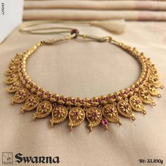 Mango Mala Jewellery, Gold Temple Jewellery, Indian Jewelry Earrings, Fancy Jewellery, Gold Wedding Jewelry, Mom Jewelry, Gold Jewellery Design, Bridal Jewelry, Indian Necklace