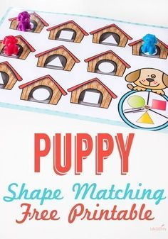 Try this FREE puppy matching printable from Life Over C's with your preschoolers! Teach your kids about all of the different shapes with this free printable! Learning about shapes can be fun with this puppy-themed preschool worksheet! If your kids love animals, then this free kid's activity is perfect for teaching them about shape recognition! Print out this awesome printable for your students today! Free Activities For Kids, Fun Math Activities, Preschool Learning, Hands On Activities, Preschool Activities, Preschool Kindergarten, Toddler Preschool, Free Preschool, Learning Resources