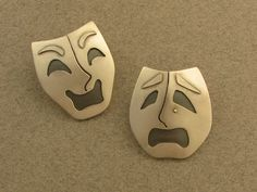 The Jewelry of Ahlene Welsh - Masks of Comedy and Tragedy