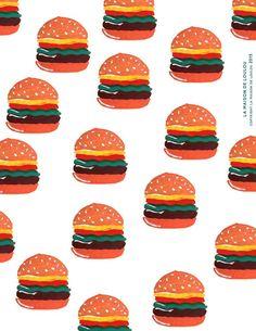 FREE Printable Hamburger Wrapping Paper