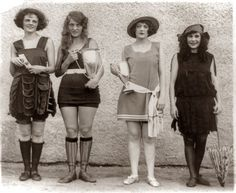 Yep, the shorter the skirt the bigger the trophy - true today and 90 years ago!  Beauty Prize Winners: 1922