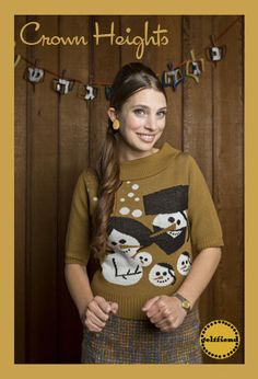 Ugly Hanukkah sweater from Geltfiend — Women's Chanukah Sweater featuring happy Hassidic snow-family Ugly Hanukkah Sweater, Ugly Xmas Sweater, Christmas Sweaters, Win A Holiday, Holiday Tree, Kitsch, Jewish Crafts, Crown Heights, Sweater Fashion