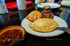 Samosa and Meat Pie from my local African Place[OC][2590x1797] Click the photo to see more!
