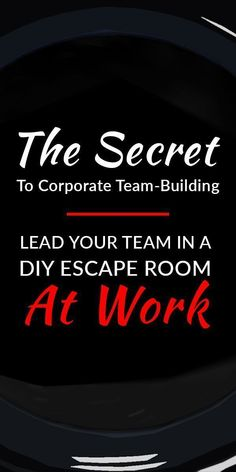 Discover a team-building activity that& both effective and fun! DIY escape rooms turn corporate team-building into something to look forward to. Team Building Activities For Adults, Corporate Team Building Activities, Team Building Games, Team Activities, Team Games, Camping Activities, Teamwork Activities, Youth Games, Camping Games