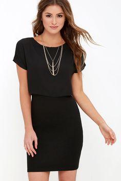 8e6907ed08 Half the Fun Black Midi Dress