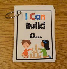 Block center and partner/small group work! Block Center Preschool, Kindergarten Centers, Learning Centers, Preschool Classroom, Preschool Activities, Teach Preschool, Block Area, Small Group Activities, Block Play