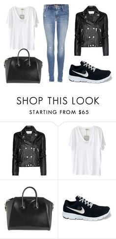 """""""Sin título #77"""" by yasmin1994 ❤ liked on Polyvore featuring MANGO, American Vintage, Givenchy, NIKE and Mother"""