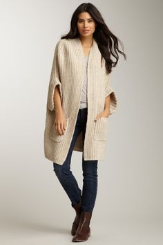 Urban Behavior Short Sleeve Oversized Knit Cardi