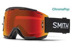 Smith - Squad Black MTB Goggles, ChromaPop Everyday Red Mirror Lenses