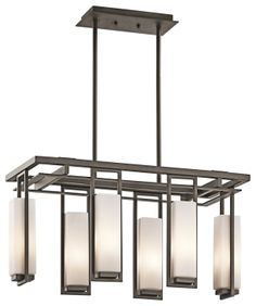 Buy the Kichler Olde Bronze Direct. Shop for the Kichler Olde Bronze Perimeter Single-Tier Linear Chandelier with 8 Lights - Stem Included and save. Rectangle Chandelier, Linear Chandelier, Contemporary Chandelier, Chandelier Lighting, Modern Contemporary, Chandelier Ideas, Outdoor Chandelier, Mini Chandelier, Lighting Inc