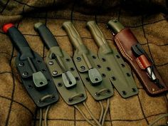 Mora knives in kydex holsters