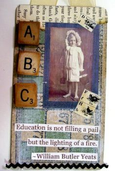 education quote on cute vintage tag