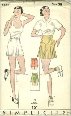 Simplicity 1333 | 1930s Misses' Shorts
