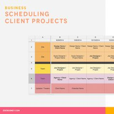 Scheduling Client Projects |  It can be really hard to accurately judge capacity and keep track of scheduled projects, not to mention projecting when you'll have openings for future projects.