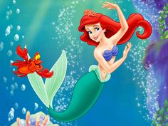 Sereia Protetor De Tela Da Ariel Pequena Sereia Ariel Papel De Parede