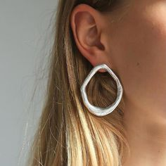 Earrings Rscvonm Moon 2018 Gold Silver Color Statement Geometric Circle Metal Pendientes Earrings For Women Fashion Stud Earring Brincos